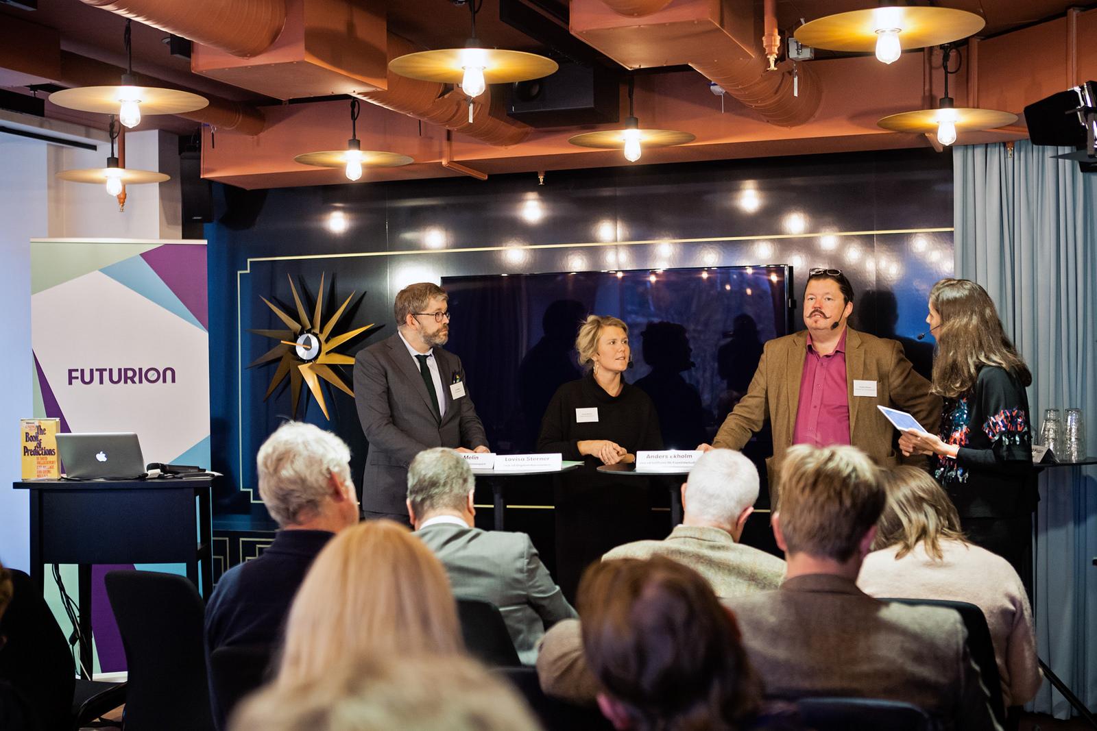 """Futurions seminarium """"Hur såg framtiden ut förr?"""" Foto: Lina Nyberg"""