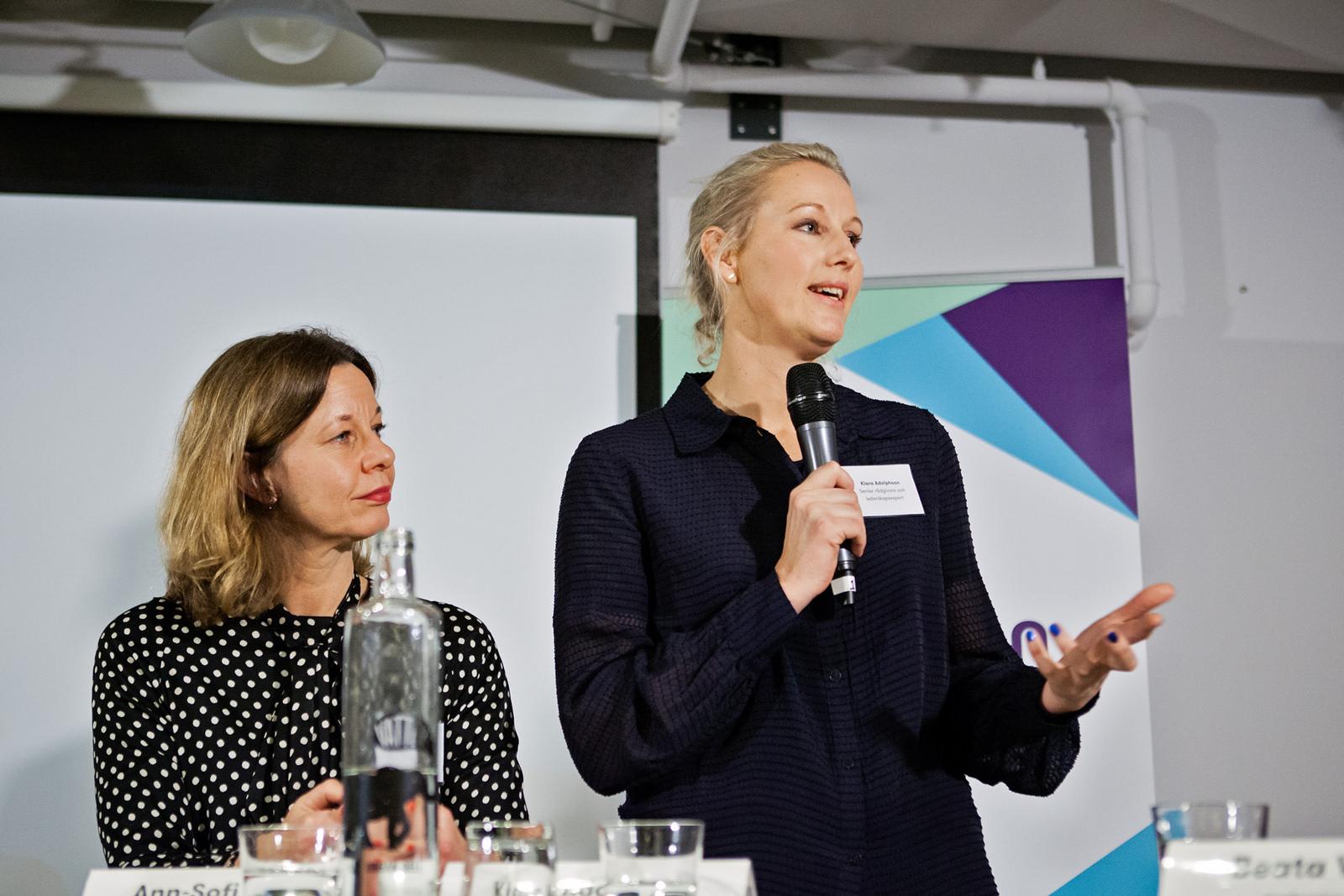 Ann-Sofi Sjöberg och Klara Adolphson