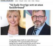 Ann-Therese Enarsson och Carl Melin, Futurion, i SvD Brännpunkt.