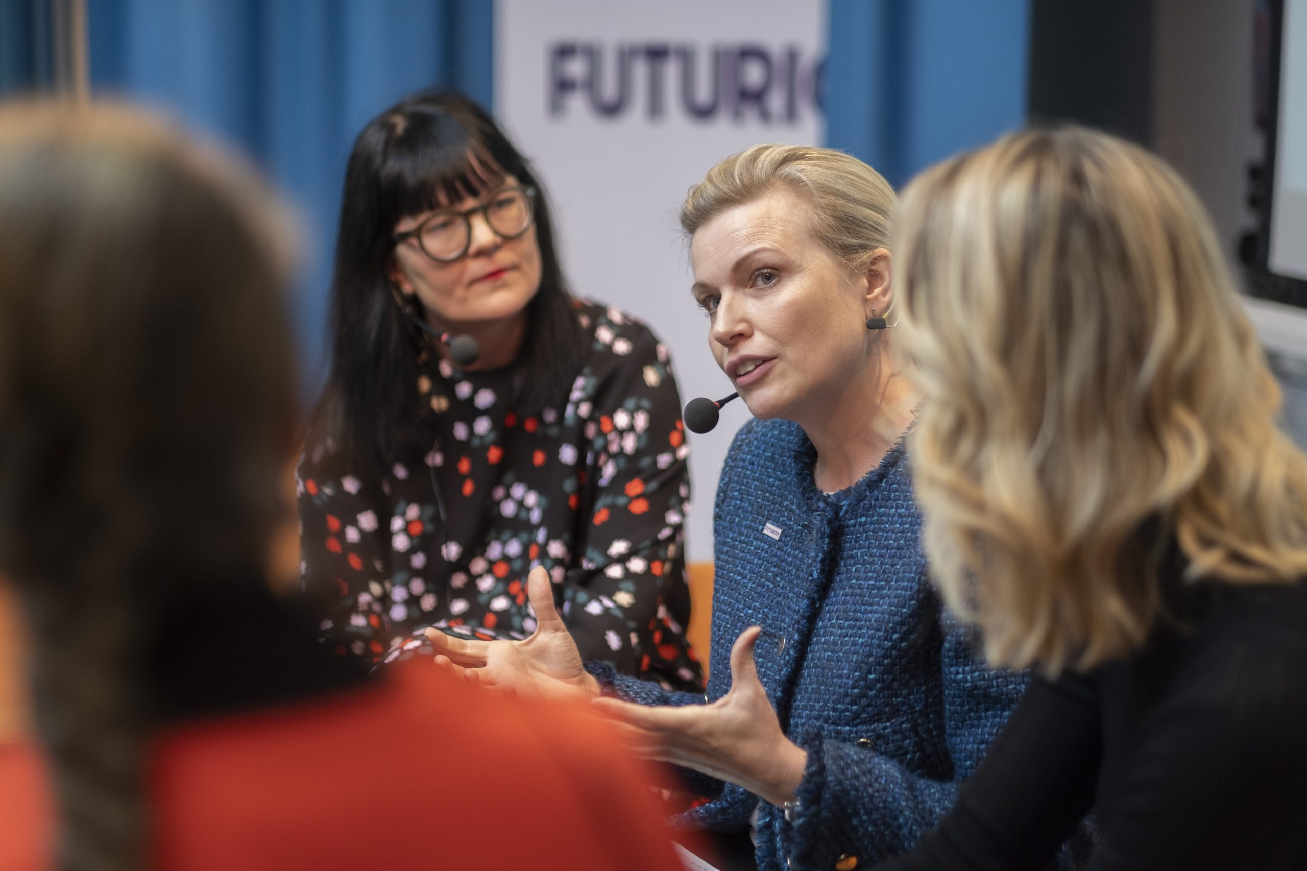 Therese Svanström, ordförande TCO och Ann-Therése Enarsson, vd Futurion på lanseringen av FutureFit Sweden.