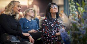 Från vänster: Anna Wikland, Sverigechef på Google, Ann-Therese Enarsson, vd på Futurion och TCO:s ordförande, Therese Svanström. Foto: Fredrik Hjerling